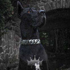 Great Dane XL Silver Dog Chain