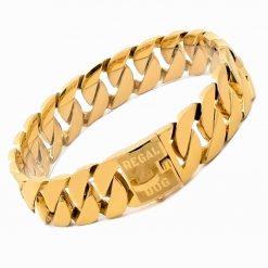 XL Gold Chain Dog Collar