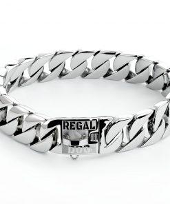Silver Dog Chain Collar