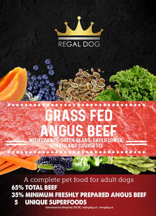 Grain free Complete Dog Food with Beef