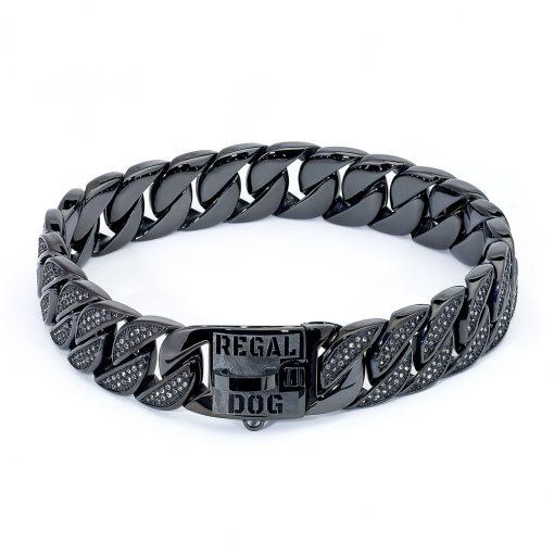 Black Diamond Chain Dog Collar