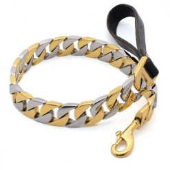 Gold and Silver Chain Dog Lead