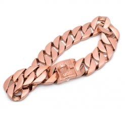 XL Rose Gold Chain Dog Collar
