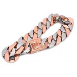 XL Two Tone Chain Dog Collar