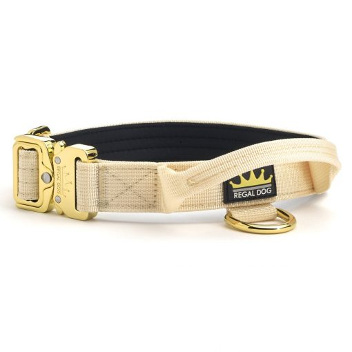 Cream - Gold Series Tactical Dog Collar 2.5cm