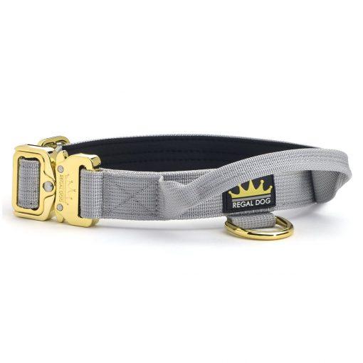 Grey - Gold Series Tactical Dog Collar 2.5cm
