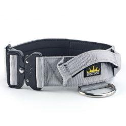 Grey Tactical Dog Collar