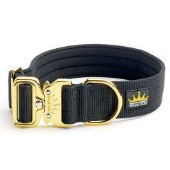 Black Gold Series Dog Collar - 4cm