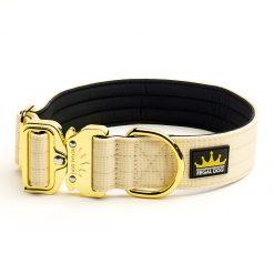 Cream Gold Series Dog Collar - 4cm