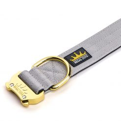 Grey Gold Series Dog Collar - 4cm