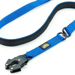 Blue Tactical Dog Lead with Frog Clip