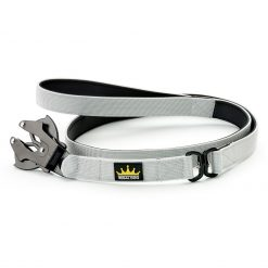 Grey Tactical Dog Lead with Frog Clip