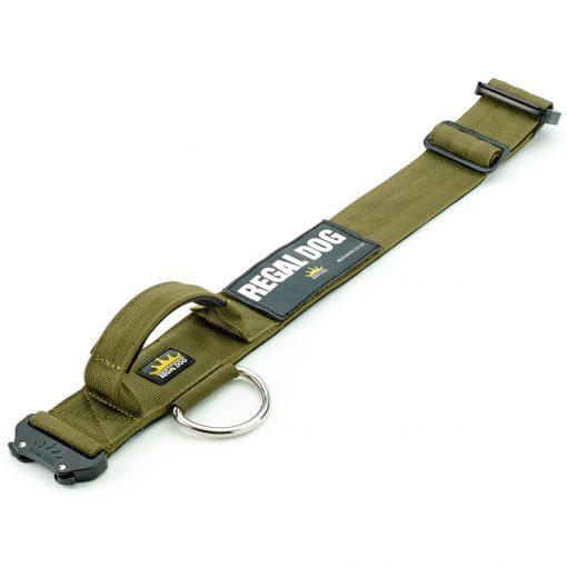 Khaki Tactical Dog Collar Flat