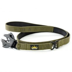 Khaki Tactical Dog Lead with Frog Clip