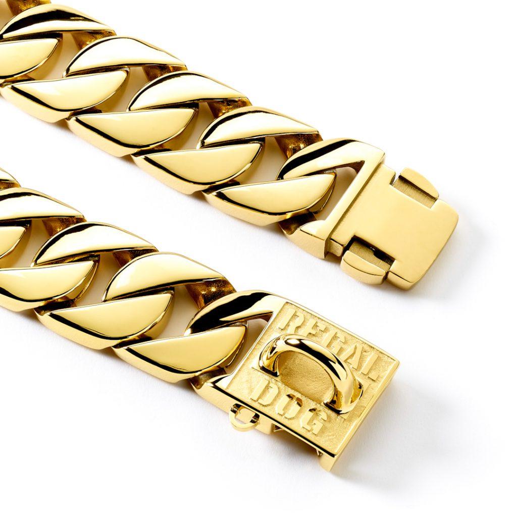 Gold Dog Chain Collar Clips